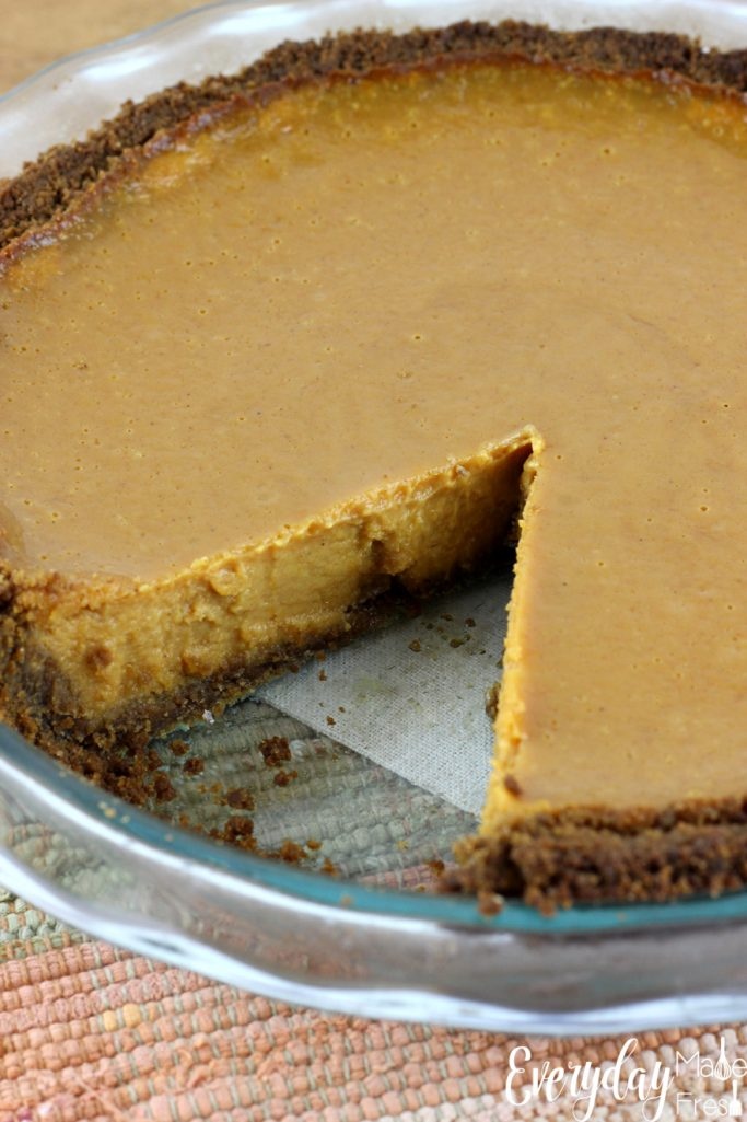 Perfect pumpkin pie has to be silky in texture with just the right about of spice. You'll get all of that plus more in this Silky Pumpkin Pie with a Ginger Snap Crust. It's probably the best pumpkin pie you'll ever eat!   EverydayMadeFresh.com