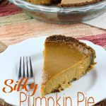 Perfect pumpkin pie has to be silky in texture with just the right about of spice. You'll get all of that plus more in this Silky Pumpkin Pie with a Gingersnap Crust. It's probably the best pumpkin pie you'll ever eat! | EverydayMadeFresh.com