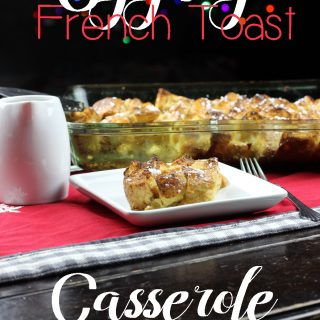 Nothing says Christmas quite like eggnog! Which is why Eggnog French Toast Casserole is the perfect holiday breakfast! Eggnog, vanilla, and cinnamon give this traditional casserole some holiday flair.   EverydayMadeFresh.com