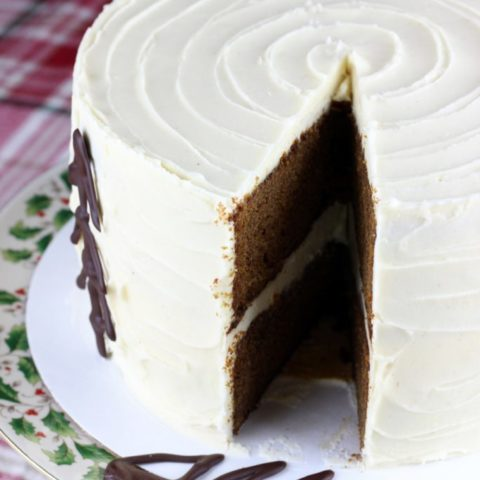 Gingerbread Cake with Maple Cream Cheese Frosting