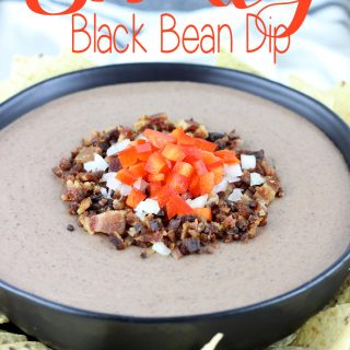 This Smokey Black Bean Dip is simple to make, and only requires 8 ingredients! It's creamy, smokey, and spicy, everything you want in a black bean dip! This dip is made for , holidays, parties and tailgating. | EverydayMadeFresh.com