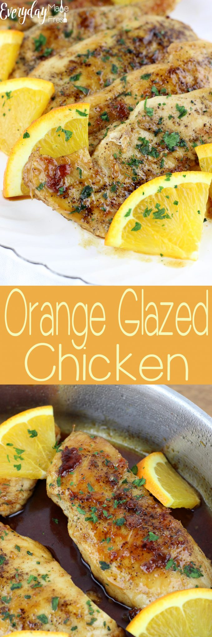 Sweet, spicy, and sticky this Orange Glazed Chicken is the perfect family meal. | EverydayMadeFresh.com