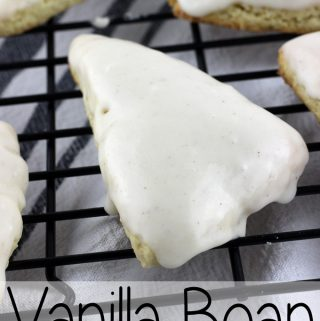 These Vanilla Bean Scones aren't petite, and they are better than Starbucks! | EverydayMadeFresh.com