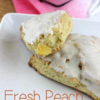 Fresh Peach Scones & Vanilla Bean Glaze