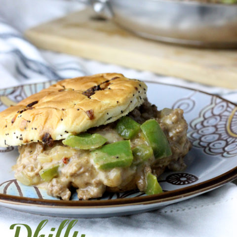 Philly Cheese Steaks and Sloppy Joes come together in this one pan dish to create your next family favorite, Philly Cheese Steak Sloppy Joes! | EverydayMadeFresh.com