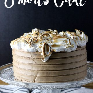 This S'mores Cake is going to knock your socks off! A graham cracker cake, milk chocolate buttercream, and toasted marshmallow topping, all made from scratch; it's much easier than you think. | EverydayMadeFresh.com
