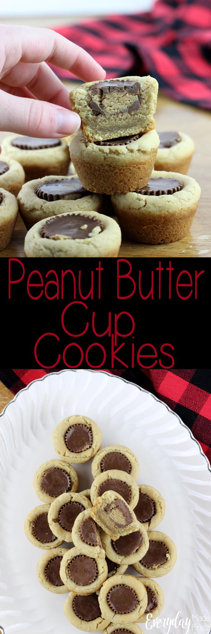 These Peanut Butter Cup Cookies are a classic Christmas cookie, and with good reason. They are simple to make and tasty! | EverydayMadeFresh.com