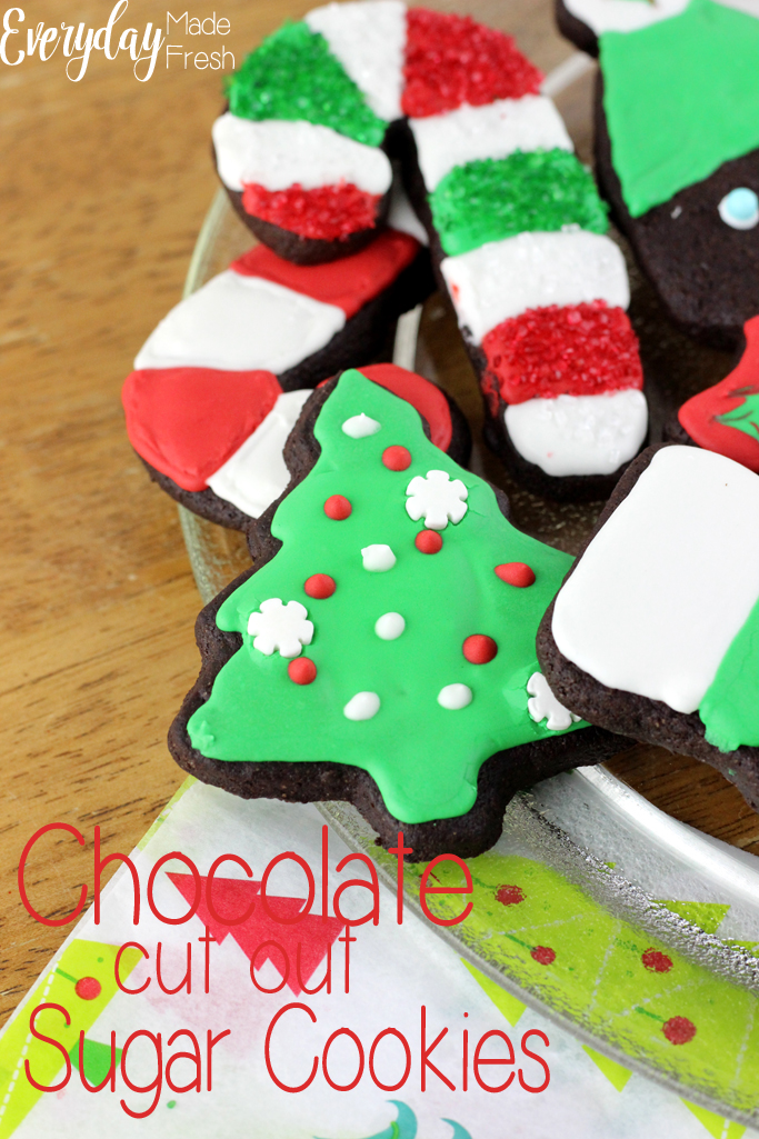 Chocolate Cut Out Sugar Cookies that hold their shape when baking, and that taste like a decadent brownie! These are perfect for any holiday or occasion.