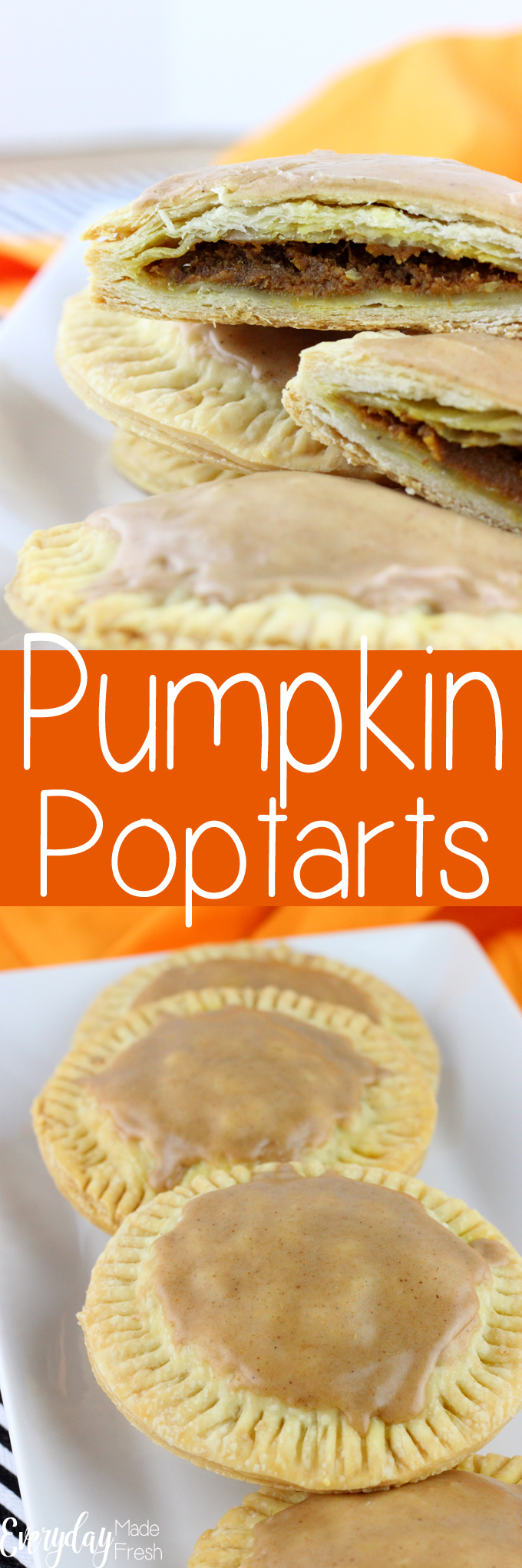 Using store bought pie dough, you can create these Pumpkin Poptarts anytime of the year! They are simple to make, and better for you than store bought. | EverydayMadeFresh.com