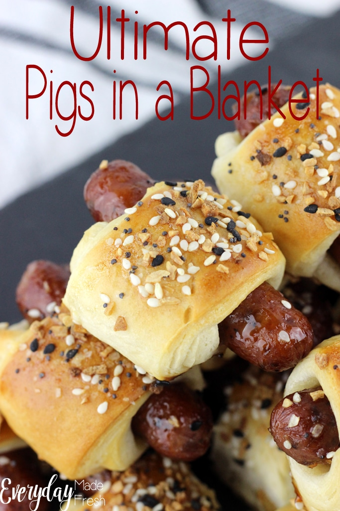 Nothing says appetizer quite like the traditional little sausages wrapped in dough. However, we've turned up the flavor with this updated version, Ultimate Pigs in a Blanket!