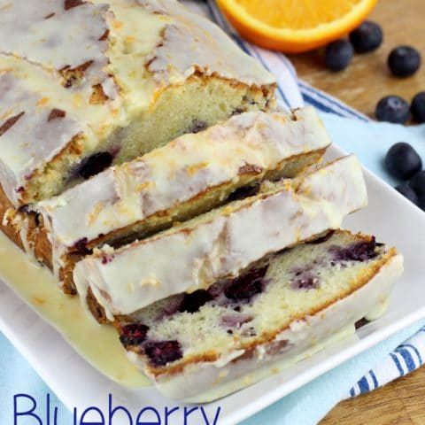 Blueberry Pound Cake with Orange