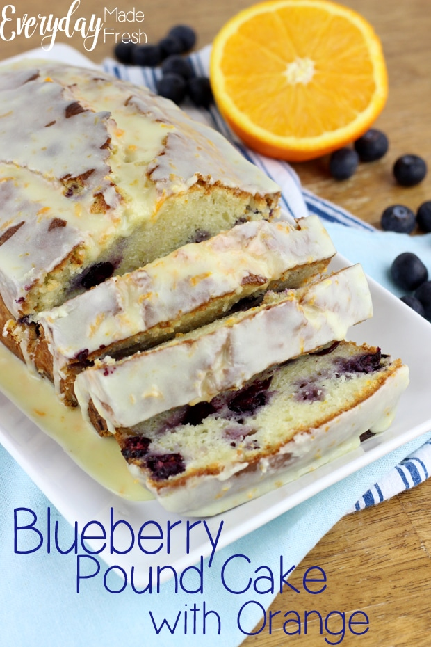 Blueberry Pound Cake with Orange is the perfect sweet treat to enjoy this spring and summer! | EverydayMadeFresh.com