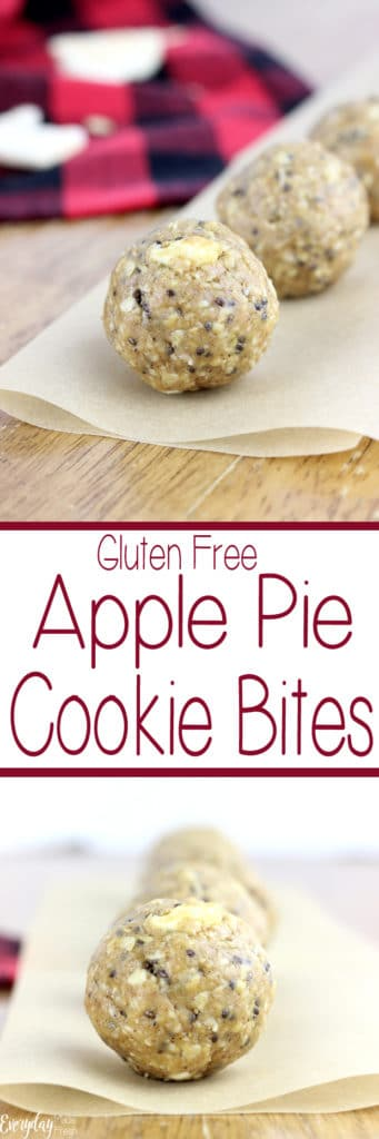 These no bake Gluten Free Apple Pie Cookie Bites are easy to make, and refined sugar free. | EverydayMadeFresh.com