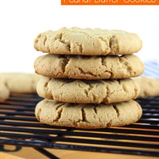 Your favorite peanut butter cookie gets a fall twist: Gluten Free Pumpkin Spice Peanut Butter Cookies are thick and chewy, making them the perfect cookie. | EverydayMadeFresh.com