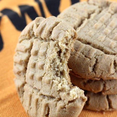 Gluten Free Pumpkin Spice Peanut Butter Cookies