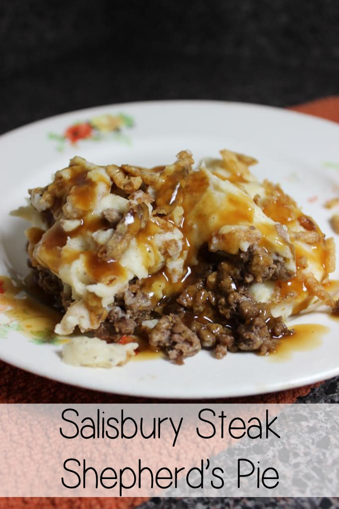 Modernize your next family meal with this scrumptious Salisbury Steak Shepard's Pie, topped with a beef gravy that will make your grandmother proud! | EverydayMadeFresh.com