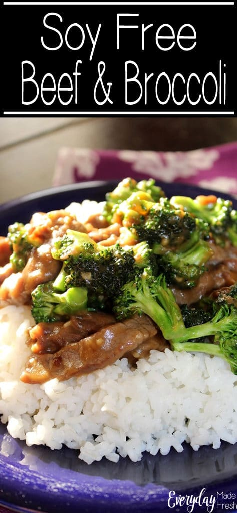 Soy allergy? No problem! You can still enjoy a take out favorite with this soy free beef and broccoli. | EverydayMadeFresh.com