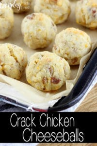 Crack Chicken Cheeseballs is the ultimate appetizer, snack, or party food. Ground chicken, ranch, cheese, and bacon come together in this addicting little bite.