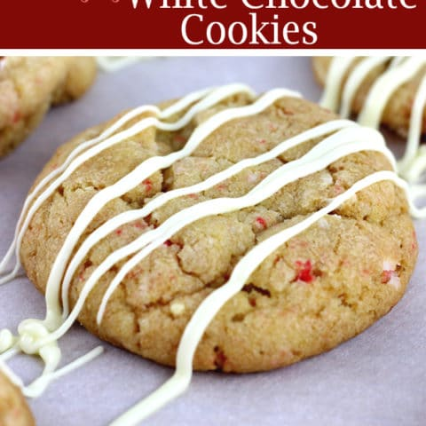 Peppermint White Chocolate Cookies