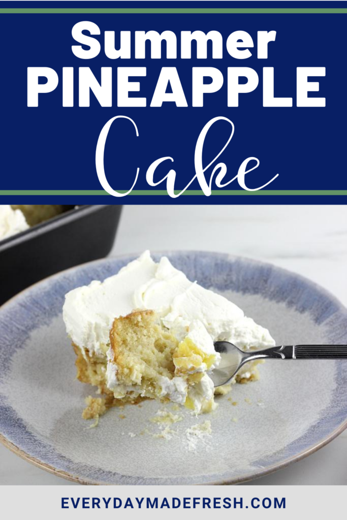 This Summer Pineapple Cake is fruity, moist, light and refreshing.  The perfect cake for those hot summer days.