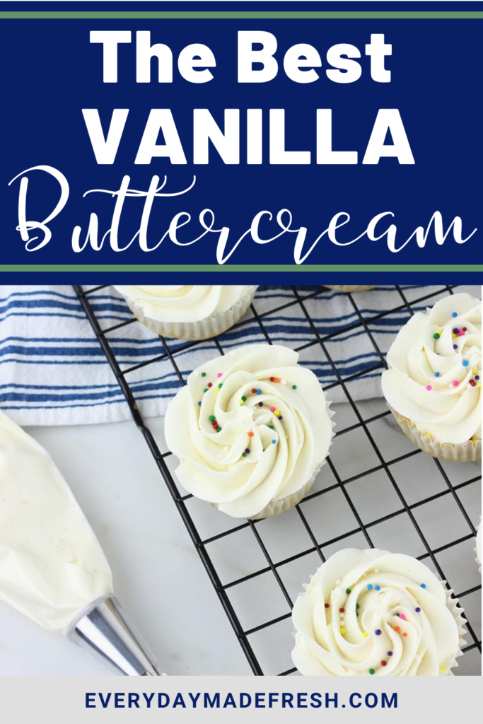 The Best Vanilla Frosting is simple to make, and perfect for any cake or cupcake. It's rich and creamy and quick to whip up.