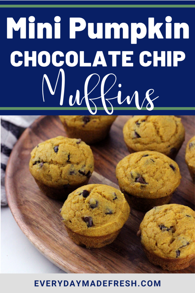 Packed with pumpkin and chocolate chips, these Mini Pumpkin Chocolate Chip Muffins are simple to make, and a great way to enjoy the flavors of fall, all in one bite!