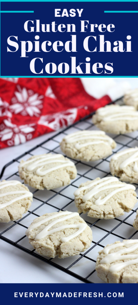 These Easy Gluten Free Chai Spiced Cookies are filled with cinnamon, allspice, cardamom,  ginger, and a dash of pepper - all the warm winter spices you love. These are sure to become your favorite cookie!