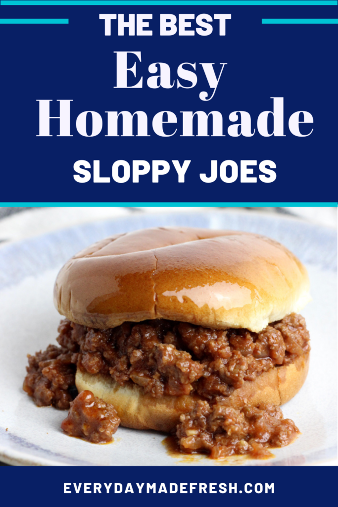 The Best Easy Homemade Sloppy Joes are made with canned tomato sauce, tomato paste, and some seasonings, which lend to a perfect sweet and tangy sauce. No ketchup here! These Sloppy Joes that will put that canned stuff to shame!
