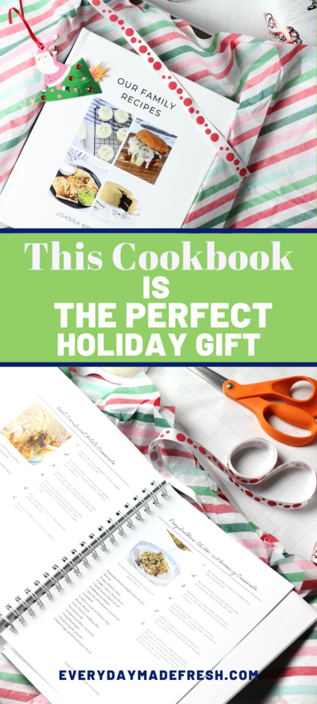 Looking for a gift that will be cherished for years to come? This Cookbook is the Perfect Holiday Gift! CreateMyCookbook makes it easier than ever!